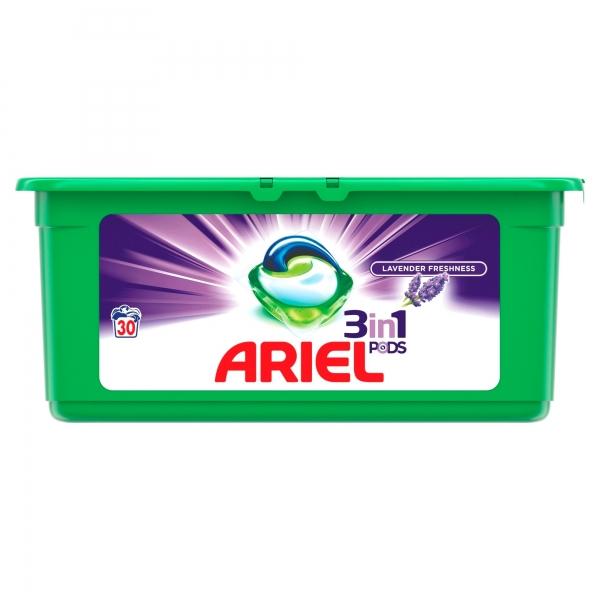 Ariel Detergent Capsule 3in1 PODS, 30 buc, Lavanda