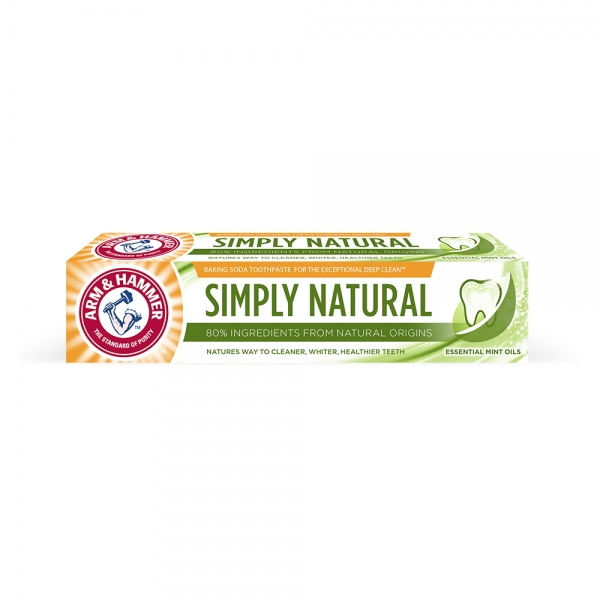 Arm and Hammer Pasta de dinti, Simply Natural, 75 ml 0