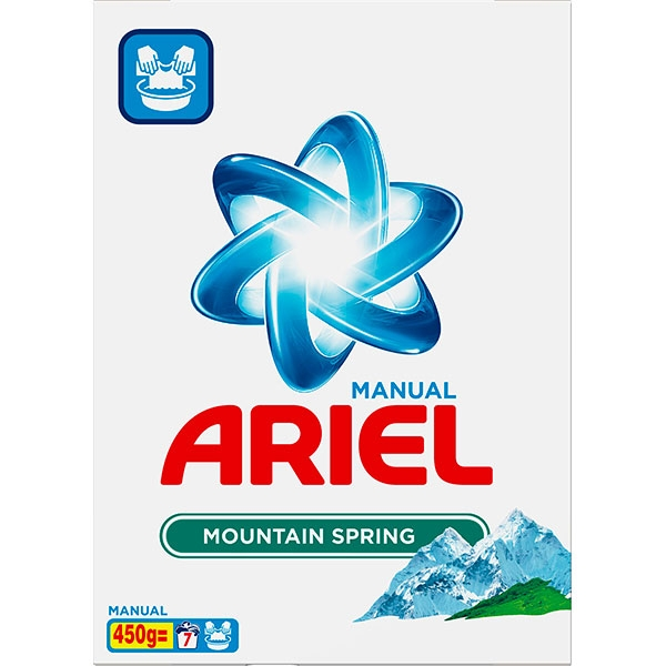Ariel Detergent manual, 450 g, 7 spalari, Mountain Spring 3D Actives 0
