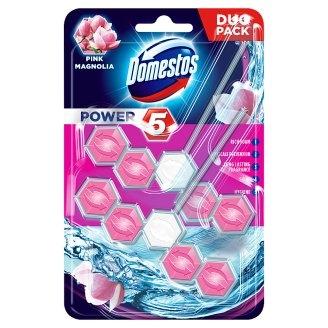 Domestos Odorizant WC cu bile, 2 x 55 g, Power 5 Pink Magnolia 0