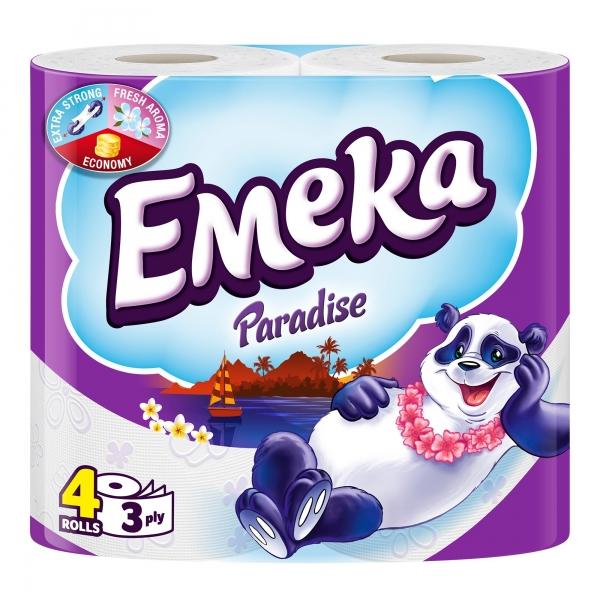 Emeka Paradise Hartie igienica, 3 straturi, 4 role