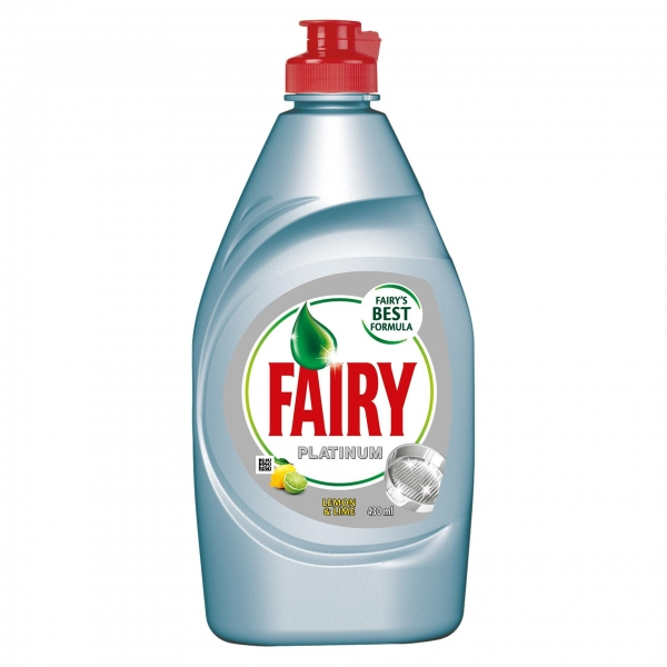 Fairy Detergent pentru vase, 430 ml, Platinum Lemon & Lime