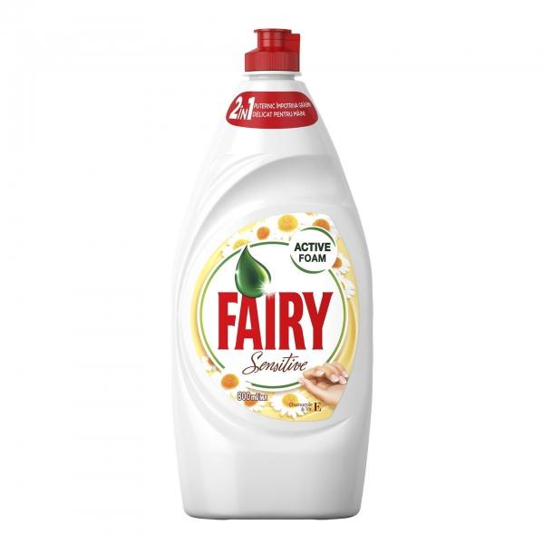 Fairy Detergent pentru vase, 800 ml, Sensitive Chamomile & Vitamin E