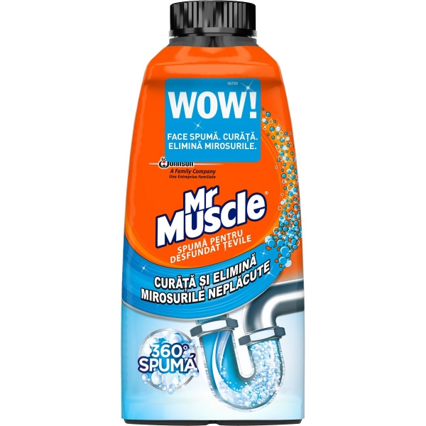 Mr Muscle Spuma desfundat tevi, 500 ml 0