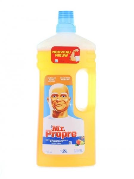 Mr. Proper Detergent pardoseli, 1.25 L, Fraicheur Tropicale