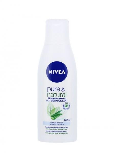Nivea Lapte demachiant, 200 ml, Pure & Natural 0