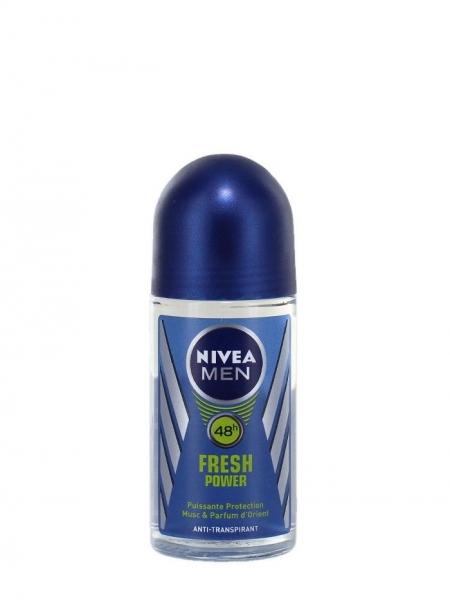 Nivea Deodorant Roll-on, Barbati, 50 ml, Fresh Power
