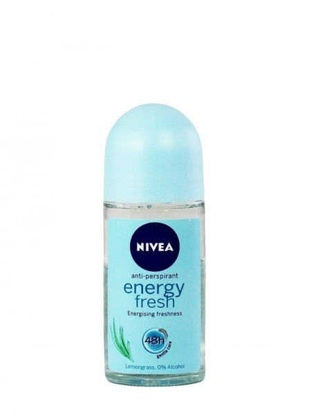 Nivea Deodorant Roll-on, Femei, 50 ml, Energy Fresh