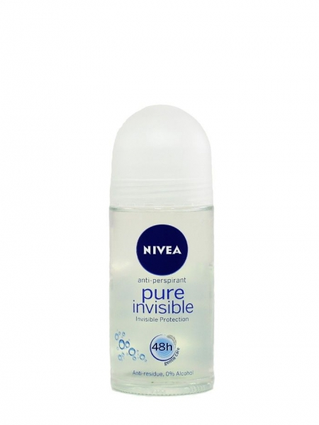 Nivea Deodorant Roll-on, Femei, 50 ml, Pure Invisible