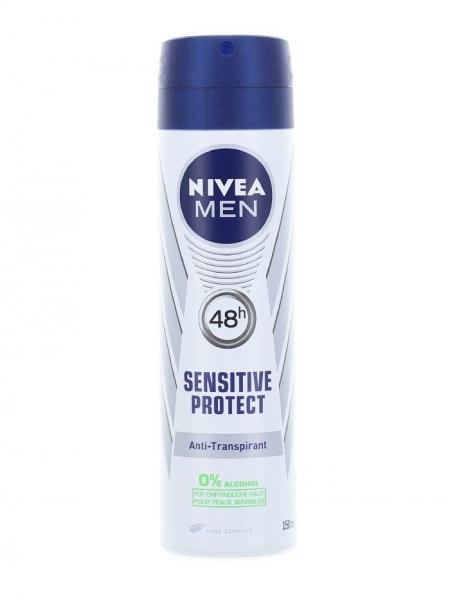 Nivea Deodorant spray, Barbati, 150 ml, Sensitive Protect