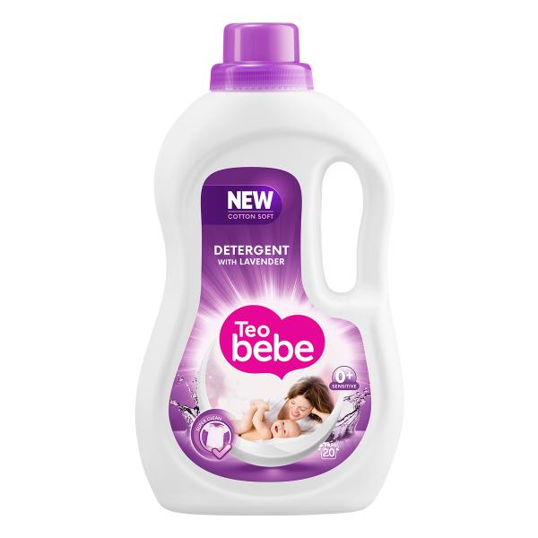 Teo Bebe Detergent lichid, 1.1 L, 20 spalari, Cotton Soft Lavender 0