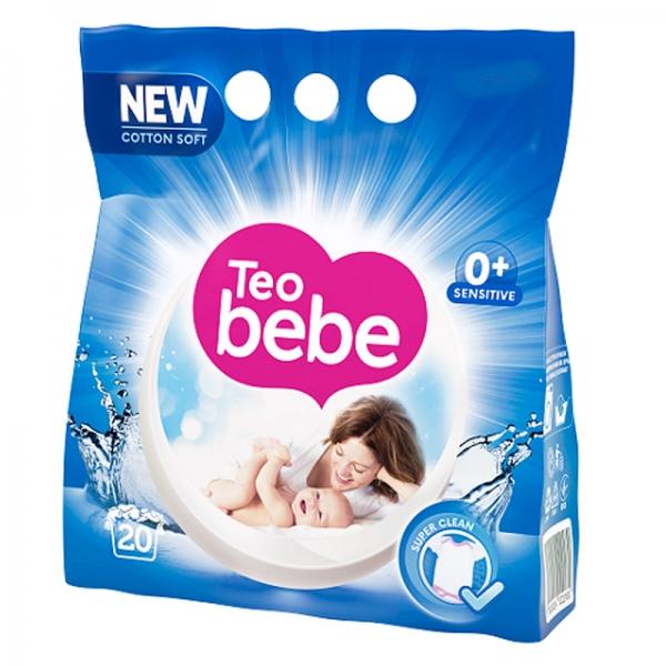 Teo Bebe Detergent pudra, 1.5 kg, 20 spalari, Cotton Soft 0