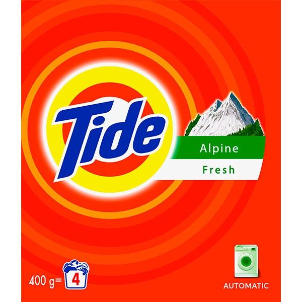 Tide Detergent automat, 400 g, 4 spalari, Alpine Fresh