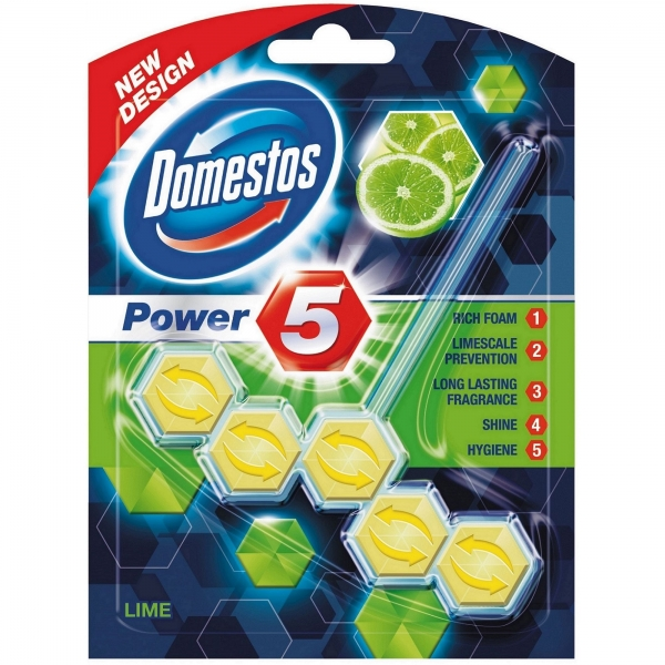 Domestos Odorizant WC cu bile, 55 g, Power 5 Lime
