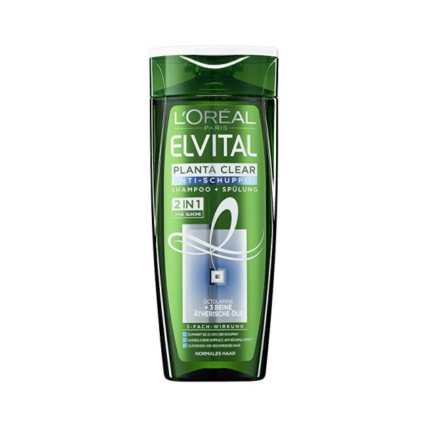 L'Oréal Elvital Sampon, 300 ml, 2 in 1 Planta Clear
