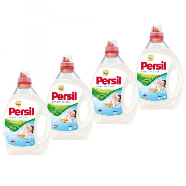 Pachet promo 4 x Persil Detergent lichid, 2L, 40 spalari, Sensitive Gel 0